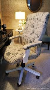 Office chair reupholstery Drafting How About Learning How To Reupholster An Office Chair From Christy At confessions Of Serial Diyer Wouldnt This Pretty French Style Fabric Be Soooo The Budget Decorator How To Reupholster Chair The Budget Decorator