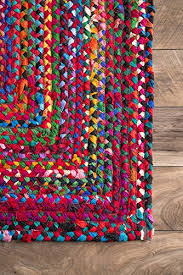 nuloom mgnm04a handmade casual cotton braided area rugs 4 x 6 multicolor b01hdwdwca