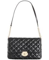Calvin Klein Quilted Lamb Shoulder Bag - Handbags & Accessories ... & Calvin Klein Quilted Lamb Shoulder Bag - Handbags & Accessories - Macy's Adamdwight.com