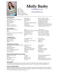 21 Musical Theatre Resume Template Release Dreamswebsite
