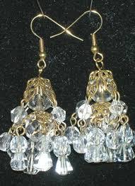 victorian style crystal chandelier earrings 11769