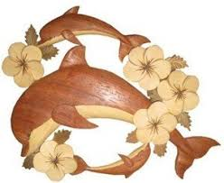 aloha wood art wood wall hanging 3 dolphins plumeria on wooden dolphin wall art with amazon aloha wood art wood wall hanging 3 dolphins plumeria