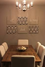 diy dining room wall art. a must do wall art: material covered canvas; some with burlap words inscribed on them. diy dining room art