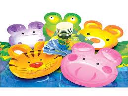 <b>Набор для праздника Action</b>! Веселые животные (6 тарелок, 6 ...