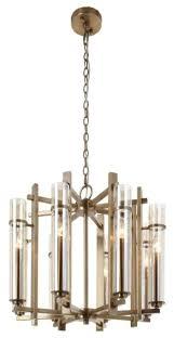 rv astley louis antique brass 8 light chandelier
