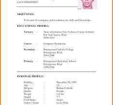 How To Make A Formal Resume Format Of Cv For Job Application How To Write Resume Examples 22