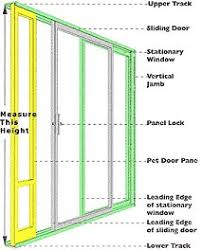 sliding glass door. A NOTE OF CAUTION When Measuring Your Track Height: Sliding Glass Door