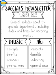 Music Newsletter Templates Newsletters For The Arts General Music Posters And Bulletin Boards