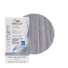 wella color charm permament liquid hair dye additive 42ml cooling violet 050 ebay
