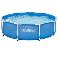 round metal frame swimming pools at walmart