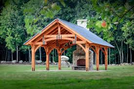 20 x 24 outdoor pavilion alpine timber frame