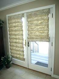 perfect door french doors covering door ideas shades captivating roman and hobbled and french door shades