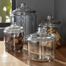 inspiration glass storage bowl food container and plastic crate barrel heritage hill jar with lid snap costco