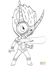 suddenly firefly coloring page villain from pj masks free printable