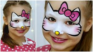 o kitty makeup for kids fast easy face painting tutorial