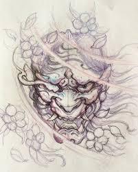 Hannya Sketch Hannya Chronicink Sketch Illustration Drawing