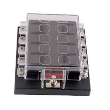 cheap fuse box circuit breaker fuse box circuit breaker get quotations · generic new dc32v 10 way terminals circuit car auto blade fuse box block holder atc ato