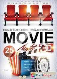 Free Movie Night Flyer Templates Movie Night Psd Flyer Template Free Download Photoshop