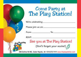Party Invitations Party Invitations Thank You Cards The Play Station Childrens