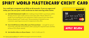 How To Get The Secret Spirit Airlines Mastercard 15k 100