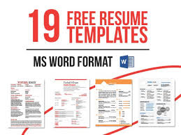 Template Ms Word Cv Template Free Download Microsoft