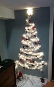 Christmas Tree Design On Wall With Lights The No Tree Christmas Tree Wall Christmas Tree Diy