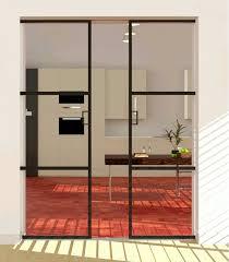 black metal framed french doors