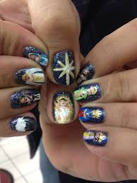 Nativity Nail Designs Nativity Scene Nails Holiday Nail Designs Christmas