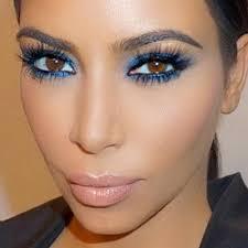 kim kardashian makeup blue eyeshadow eyeshadow lipstick lipstick steal her style