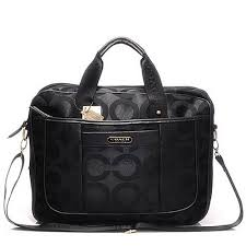 Coach In Monogram Large Black Business bags DHI