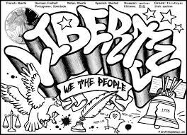 free graffiti coloring page liberty graffiti free coloring printable for kids liberty political graffiti