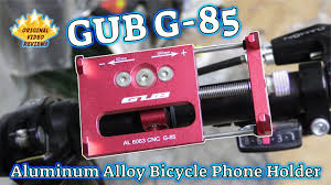 GUB G-85 <b>Aluminum Alloy Bicycle Phone</b> Holder‎ Review - YouTube