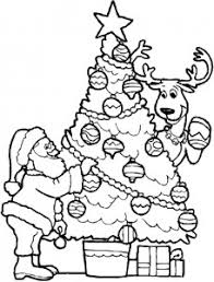 Small Picture Christmas Tree And Santa Coloring Page Coloring Point Coloring