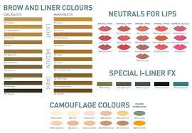 Permanent Makeup Colour Chart Natural Effects