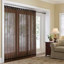 image of stylish sliding glass door window treatments