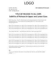 How To Make Press Release Template Create Announcing New Hire