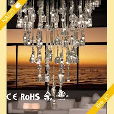 wine glass chandelier pendant lamp with led bulb