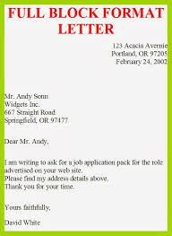 Example Of Full Block Business Letter Style 6 Reinadela Selva