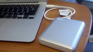 apple external hard drive. if you do not know how to take backup of the data, simply connect a blank external drive your system, which has larger space than original hard disk. apple