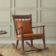 wooden rocking chair. atticus rocking chair (teak finish, amber) wooden