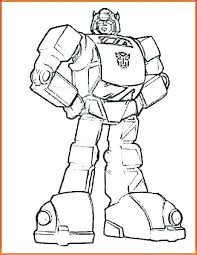 Transformers Bumblebee Coloring Page Transformer Coloring Pages Free