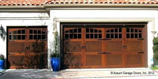 stained garage doors stained garage door semi custom wood garage doors ca garage door installation beach
