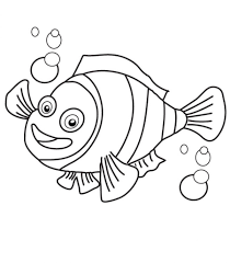 Clown Fish Coloring Page Many Interesting Cliparts