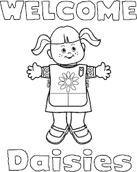 daisy coloring pages girl scout daisy coloring pages 7 within scouts 2 vi daisy petal coloring