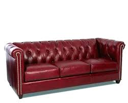 red tufted sofa leather modern