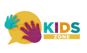 Kids Zone Logo Template Of Child Palm Stock Vector