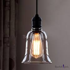 single light led mini pendant with clear bell glass shade beautifulhalo com