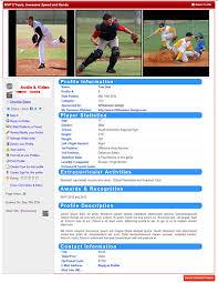 Softball Player Profile Template Soccer Player Profiles Template Barca Fontanacountryinn Com