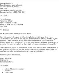 cover letter for advertising sales advertising sales agent cover letter