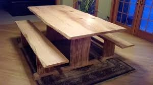 wooden materials traditional dining enticing natural painting oak woods materials as live edge dining tabl